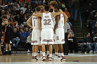 21 December 2005: Mitch Johnson, Jason Haas, Anthony Goods, Peter Prowitt, Lawrence Hill during the Stanford Cardinal's 58-34 win against the Princeton Tigers at the Pete Newell Challenge at the Oakland Coliseum in Oakland, CA.