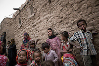 Wednesday 15 July, 2015: Displaced children from the heavy fighting and bombarments in Sa'dah governorate are seen in an abandoned salafist madrasa (university) in Dammaj village, used as a temporary settlement in the northern province of Sa'dah, the stronghold of the Houthi's movement in Yemen. (Photo/Narciso Contreras)