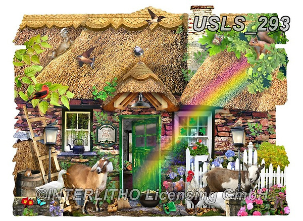 Lori, LANDSCAPES, LANDSCHAFTEN, PAISAJES, paintings+++++Shaped Cottage _7_10 in trimmed_72,USLS293,#l#, EVERYDAY ,puzzle,puzzles