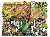 Lori, LANDSCAPES, LANDSCHAFTEN, PAISAJES, paintings+++++Shaped Cottage _7_10 in trimmed_72,USLS293,#l#, EVERYDAY ,puzzle,puzzles