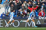 Youssef En-Nesyri of CD Leganes celebrates goal during La Liga match between CD Leganes and RCD Espanyol at Butarque Stadium in Leganes, Spain. December 22, 2019. (ALTERPHOTOS/A. Perez Meca)