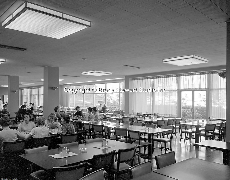 Pittsburgh PA:  View of the University of Pittsburgh's Nurses Retirement Home cafeteria in Oakland.  Ingham & Boyd started designing fine residences throughout Western Pennsylvania, especially in Edgeworth and Sewickley (1911).  They evolved into designing and building public sector and educational institutions.  Ingham & Boyd evolved into Ingram, Boyd & Pratt when Ingham's son, Charles S. Ingham, and Thomas C. Pratt joined the partnership. The successor firm is IKM, Inc.