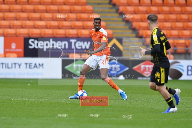 09/05/2021 Sky Bet League 1 Blackpool v Bristol Rovers  <br /> <br /> Marvin Ekpiteta in action for Blackpool