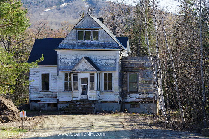 Abandoned house along Route 302 in Carroll, New Hampshire. This is how the house looked in May of 2013 just before it was torn down.