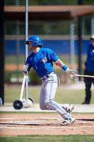 Toronto Blue Jays Logan Warmoth (15) during a Minor League Spring Training intrasquad game on March 14, 2018 at the Englebert Complex in Dunedin, Florida.  (Mike Janes/Four Seam Images)