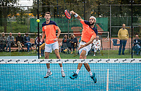 Netherlands, September 6,  2020, Amsterdam, Padel Dam, NK Padel, National Padel Championships, men's semifinal,  Uriël Maarsen (NED) and Bram Meijer (NED) (R)<br /> Photo: Henk Koster/tennisimages.com
