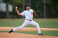 Detroit Tigers pitcher Emmanuel Quinones (31) during an Instructional League instrasquad game on September 20, 2019 at Tigertown in Lakeland, Florida.  (Mike Janes/Four Seam Images)