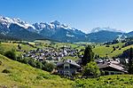 Oesterreich, Salzburger Land, Pinzgau, Maria Alm vor dem Steinernen Meer | Austria, Salzburger Land, Pinzgau, Maria Alm with Steinernes Meer mountains