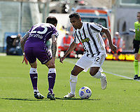 Alex Sandro of Juventus  during the  italian serie a soccer match,Fiorentina - Juventus at  theStadio Franchi in  Florence Italy ,