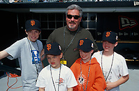 SAN FRANCISCO, CA:  San Francisco Giants general manager Brian Sabean poses with his family before a game at Pacific Bell Park in San Francisco, California in 2000. (Photo by Brad Mangin)