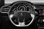 Car pictures of steering wheel view of a 2016 Ds DS3 So-Chic 3 Door hatchback Steering Wheel