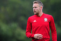 Chris Gunter of Wales during the Wales Training Session at The Vale Resort in Cardiff, Wales, UK. Monday 07 October 2019