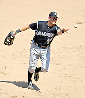 15 June 2006: Todd Helton, first baseman for the Colorado Rockies, in action against the Washington Nationals at RFK Stadium, in Washington, DC. The Rockies defeated the Nationals, 8-1 to sweep the four-game series...Mandatory Photo Credit: Ed Wolfstein Photo...