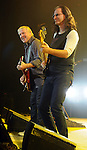 Alex Lifeson and Geddy Lee of Rush performs at the Cynthia Woods Mitchell Pavilion in The Woodlands Saturday Sept. 25, 2010. (Dave Rossman/For the Chronicle)