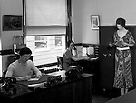 Pittsburgh PA:  Employees at work in the Office of the Registrar, Duquesne University.