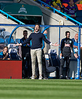 12th September 2020 The John Smiths Stadium, Huddersfield, Yorkshire, England; English Championship Football, Huddersfield Town versus Norwich City;  Huddersfield Town head coach Carlos Corberan