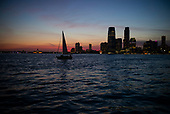 New York, New York<br /> July 18, 2020<br /> <br /> Sunset on the Hudson
