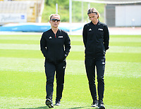20190306 - LARNACA , CYPRUS : Slovakian assistant referee Maria Sukenikova and Czech assistant referee Lucie Ratajova pictured during a women's soccer game between  Austria and the Belgian Red Flames  , on wednesday 6 March 2019 at the GSZ  Stadium in Larnaca , Cyprus . This is the last game for both teams during the Cyprus Womens Cup 2019 which decides places 3 or 4, The Cyprus Women's cup is a prestigious women soccer tournament as a preparation on the Uefa Women's Euro 2021 qualification duels. PHOTO SPORTPIX.BE | DAVID CATRY