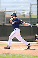 Cody Decker, San Diego Padres minor league spring training..Photo by:  Bill Mitchell/Four Seam Images.