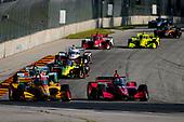 #28: Ryan Hunter-Reay, Andretti Autosport Honda and #55: Alex Palou,  Dale Coyne Racing with Team Goh Honda