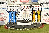 #86 Meyer Shank Racing w/ Curb-Agajanian Acura NSX GT3, GTD: Mario Farnbacher, Trent Hindman, #9 PFAFF Motorsports Porsche 911 GT3 R, GTD: Dennis Olsen, Zacharie Robichon ,#96 Turner Motorsport BMW M6 GT3, GTD: Bill Auberlen, Robby Foley