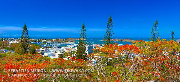 La ville de Nouméa face au lagon, Nouvelle-Calédonie