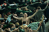 06.03.2013  Juventus v Celtic, UEFA Champions League round of the last 16 second leg  ...................    CELTIC FANS GIVE SUPPORT IN HUDDLE