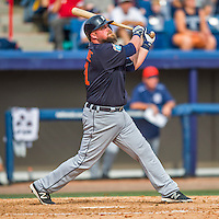 5 March 2016: Detroit Tigers infielder Casey McGehee in action during a Spring Training pre-season game against the Washington Nationals at Space Coast Stadium in Viera, Florida. The Tigers fell to the Nationals 8-4 in Grapefruit League play. Mandatory Credit: Ed Wolfstein Photo *** RAW (NEF) Image File Available ***