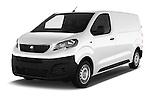 2016 Peugeot Expert Premium 4 Door Cargo Van Angular Front stock photos of front three quarter view