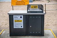 BNPS.co.uk (01202 558833)<br /> Pic: MaxWillcock/BNPS<br /> <br /> Pictured: An electric beach barbecue at Branksome Chine beach near Bournemouth in Dorset.<br /> <br /> A council that spent over £106,000 on installing communal barbecues on a seafront promenade had to close them over cleanliness issues. <br /> <br /> The electric cooking stations were opened to great fanfare two weeks ago by officials in Bournemouth, Dorset.<br /> <br /> Users are meant to clean up the grills after they have finished with them but most people aren't bothering.