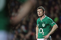 Ireland captain Brian O'Driscoll waits for Aaron Cruden to take a penalty attempt during the Steinlager Series international rugby test match between All Blacks and Ireland at Waikato Stadium, Hamilton, New Zealand on Saturday, 23 June 2012. Photo: Dave Lintott / lintottphoto.co.nz
