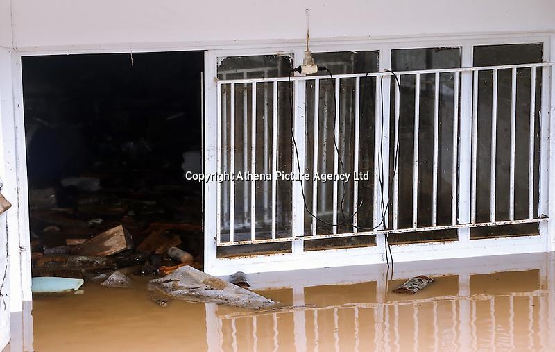 A flooded basement in Nea Mihaniona