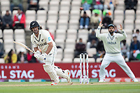 Colin de Granhomme, New Zealand chips into the on side during India vs New Zealand, ICC World Test Championship Final Cricket at The Hampshire Bowl on 22nd June 2021