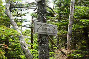Appalachian Trail - The summit of Zealand Mountain in the White Mountains, New Hampshire during the summer months.