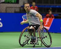 Rotterdam, Netherlands, December 20, 2015,  Topsport Centrum, Lotto NK Tennis, Final mens wheelchair Maikel Scheffers (NED)<br /> Photo: Tennisimages/Henk Koster