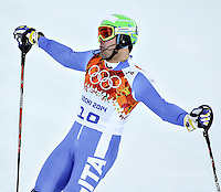 14.02.2014, Rosa Khutor Alpine Center, Krasnaya Polyana, RUSSIA, Sochi 2014 Olympic Games <br /> Olimpiadi Invernali 2014 <br /> Christof Innerhofer of Italy in action during the Downhill of the mens Super Combined <br /> Slalom Super Combinata  <br /> Christof Innerhofer Italia medaglia di Bronzo <br /> Foto Insidefoto/EXPA/ Johann Groder