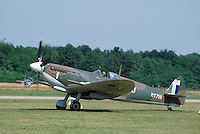 - Royal Air Force, Spitfire fighter aircraft of second World War fully restored by Italian aviation enthusiastic Franco Actis in 1984 ..- Royal Air Force, aereo da caccia Spitfire della seconda Guerra Mondiale completamente restaurato dall'appassionato di aviazione italiano Franco Actis nel 1984
