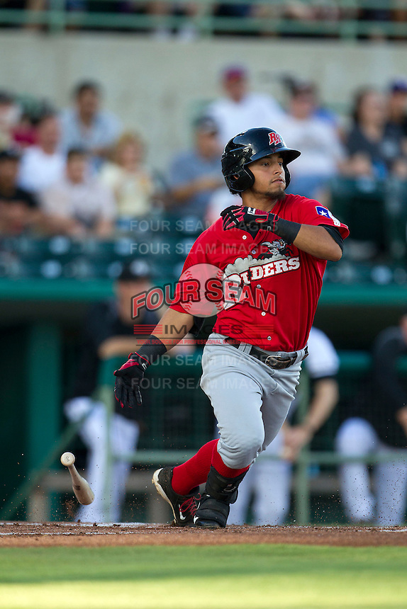 Frisco Roughriders second baseman Rougned Odor (10) starts down the first base line in the Texas League baseball game against the San Antonio Missions on August 22, 2013 at the Nelson Wolff Stadium in San Antonio, Texas. Frisco defeated San Antonio 2-1. (Andrew Woolley/Four Seam Images)