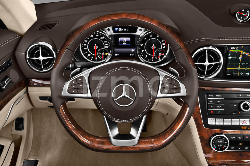 Car pictures of steering wheel view of a 2017 Mercedes Benz SL-Class SL450 2 Door Convertible Steering Wheel