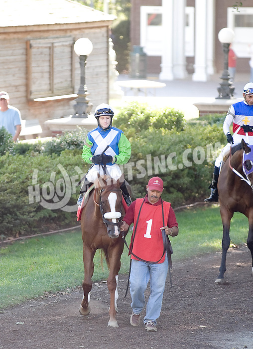 Martita Sangrita before winning The St. Georges Stake at Delaware Park on 9/15/10