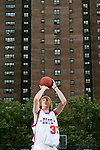Kyle Singler (33) shoots a free throw during the Elite 24 Hoops Classic game on September 1, 2006 held at Rucker Park in New York, New York.  The game brought together the top 24 high school basketball players in the country regardless of class or sneaker affiliation.