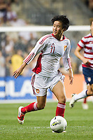 Lou Jiahui (11) of China PR (CHN). The United States (USA) women defeated China PR (CHN) 4-1 during an international friendly at PPL Park in Chester, PA, on May 27, 2012.