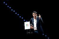 Il Presidente del Consiglio Matteo Renzi <br /> Italian Premier and Democratic Party secretary Matteo Renzi <br /> Torino 12-04-2014 PalaIsozaki <br /> Apertura Campagna elettorale elezioni europee Partito Democratico <br /> Opening European elections campaign of the Democratic Party<br /> Foto Giorgio Perottino / Insidefoto