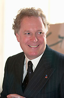 January 31 2003, Montreal, Quebec, Canada<br /> <br /> Jean Charest, Leader of  Quebec Liberal Party ,before a speech , January 31 2003 in Montreal, Canada.<br /> <br /> Quebec Provincial elections will be held April 14, 2003<br /> Mandatory Credit: Photo by Pierre Roussel- Images Distribution. (©) Copyright 2003 by Pierre Roussel