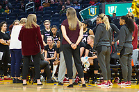 SAN FRANCISCO, CA - NOVEMBER 09: San Francisco, CA - November 9, 2019: Lexie Hull at the Chase Center. The Stanford Cardinal defeated the USF Dons 97-71. during a game between University of San Francisco and Stanford Basketball W at Chase Center on November 09, 2019 in San Francisco, California.