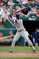 San Antonio Missions shortstop Jose Rondon (13) at bat during a game against the Springfield Cardinals on June 4, 2017 at Hammons Field in Springfield, Missouri.  San Antonio defeated Springfield 6-1.  (Mike Janes/Four Seam Images)