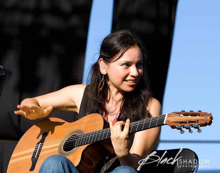 Acoustic guitar maestros Rodrigo y Gabriela strumming up a storm at the Point Nepean music festival.