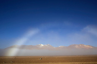 """Lipez, Bolivia<br /> January 21, 2008<br /> A view of a white rainbow and mountains with snow in the high Altiplano of Bolivia, one of the main attractions for the Dakar 2014 next January.  ©PATRICIO CROOKER/ARCHIVO LATINO For  the first time in its history,  in January 2014 the Dakar Rally will  be cross part of Bolivia, one of the wildest South American nations.  """"The organizers of the Dakar, attracted by the discovery of new spaces, were conquered by Bolivian landscapes that can be classified among the most striking of the continent,"""" says the official site of the international race.<br /> The most impressive is the section that runs through the Salar of Uyuni,  considered the world's largest salt flat and a place of surreal beauty, almost otherworldly.<br /> The competition is scheduled for  in January 2014. Our photographer and  friend Patricio Crooker  show us  the unique beauty of the places the rally will hit."""