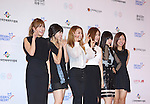 A Pink, Jun 07, 2014 : K-pop girl group A Pink pose before the Dream Concert in Seoul, South Korea.  (Photo by Lee Jae-Won/AFLO) (SOUTH KOREA)