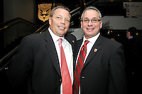 DC United Assistant Head Coach Chad Ashton with General Manager Dave Kasper.    At the 6th Annual DC United Awards Presentation ,at the Atlas Performing Arts Center in Washington DC ,Wednesday October 27, 2009.